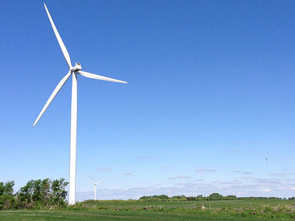 Deerfield Wind Project turbine