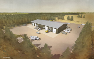 Artists Rendering og the new Grawn Service Center